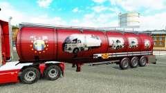 Скин Scania History на химический полуприцеп