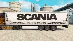 Скин Scania Truck Parts white на полуприцепы