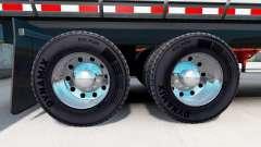 Хромированные колёсные диски у полуприцепов