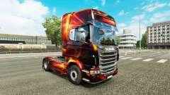 Скин Fire Effect на тягач Scania