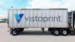 Скин Vistaprint на малый полуприцеп