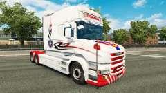 Скин White на тягач Scania T