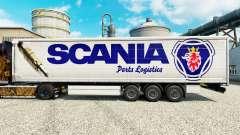 Скин Scania Parts Logistics на полуприцепы