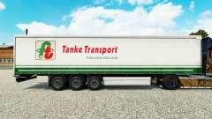Скин Tanke Transport на шторный полуприцеп