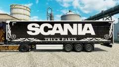 Скин Scania Truck Parts dark на полуприцепы