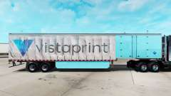 Скин Vistaprint на шторный полуприцеп