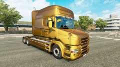 Скин Metallic на тягач Scania T