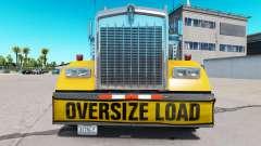 Бампер Oversize Load для Kenworth W900