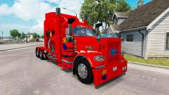 Скин Arizona USA Red на тягач Peterbilt 389