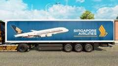 Скин Singapore Airlines на полуприцепы