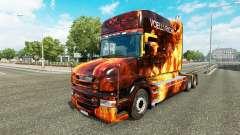 Скин Flames на тягач Scania T