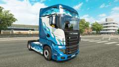 Скин Blue Flame на тягач Scania R700