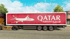 Скин Qatar Airways на полуприцепы