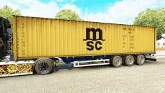Полуприцеп-контейнеровоз MSC Crewing Services