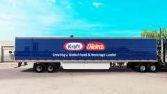 Скин Kraft Heinz на удлинённый полуприцеп