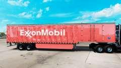 Скин ExxonMobil на шторный полуприцеп