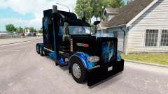 Скин Monster Energy Blue на тягач Peterbilt 389