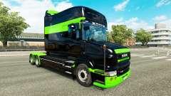 Скин Black-green на тягач Scania T