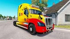 Скин DHL на тягач Freightliner Cascadia