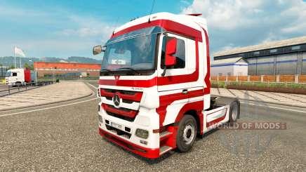 Скин Metallic на тягач Mercedes-Benz для Euro Truck Simulator 2