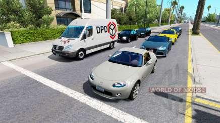 Расширенный трафик v1.4 для American Truck Simulator