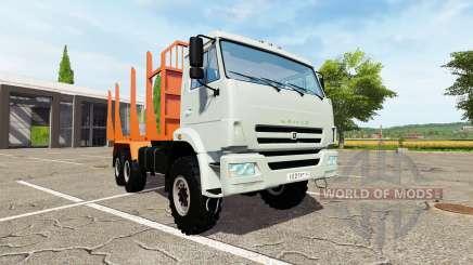 КАМАЗ-43118-24 лесовоз для Farming Simulator 2017