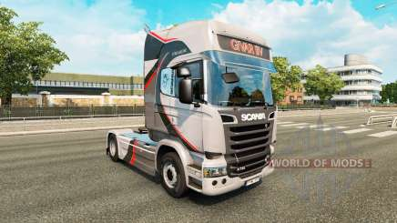 Скин GiVAR BV на тягач Scania для Euro Truck Simulator 2
