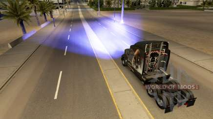 Синий ксеноновый свет фар для American Truck Simulator