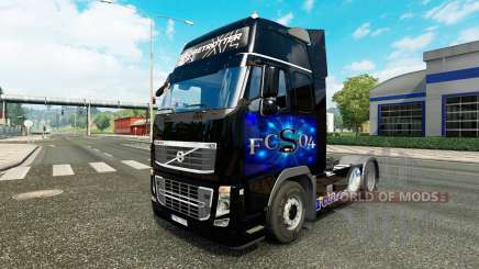 Скин FC Schalke 04 на тягач Volvo для Euro Truck Simulator 2