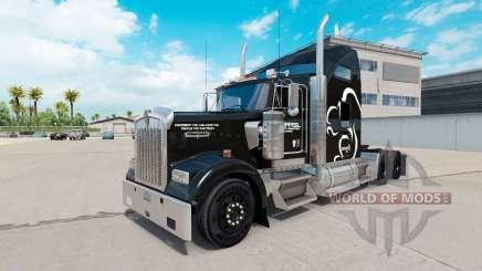 Скин Squirrel Logistics на тягач Kenworth W900 для American Truck Simulator