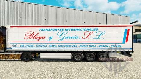 Скин Blaya y Garcia J.L. на шторный полуприцеп для Euro Truck Simulator 2