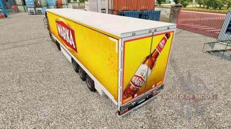 Скин Warka шторный полуприцеп для Euro Truck Simulator 2