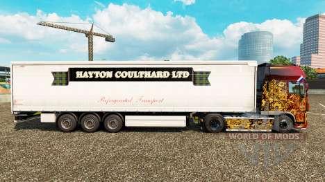 Скин Hayton Coulthard Ltd на шторный полуприцеп для Euro Truck Simulator 2