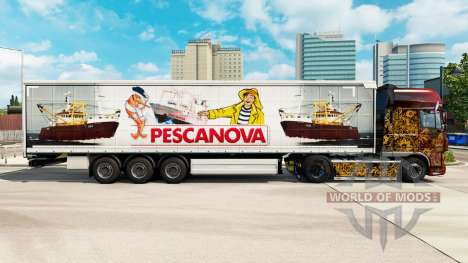 Скин Pescanova шторный полуприцеп для Euro Truck Simulator 2