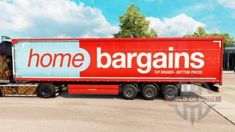 Скин Home Bargains на шторный полуприцеп для Euro Truck Simulator 2
