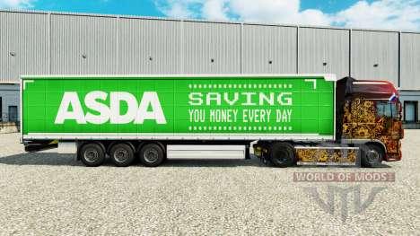 Скин ASDA на шторный полуприцеп для Euro Truck Simulator 2