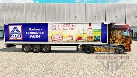 Скин Aldi Markt v2 на шторный полуприцеп для Euro Truck Simulator 2