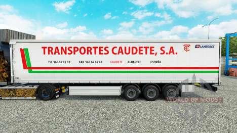 Скин Transportes Caudete S.A. шторный полуприцеп для Euro Truck Simulator 2