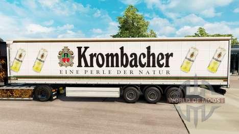 Скин Krombacher на шторный полуприцеп для Euro Truck Simulator 2