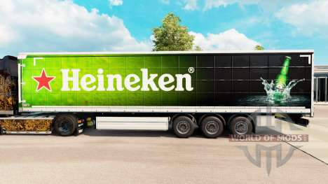 Скин Heineken на шторный полуприцеп для Euro Truck Simulator 2