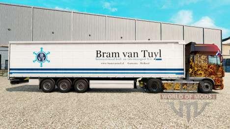 Скин Bram van Tuyl на шторный полуприцеп для Euro Truck Simulator 2