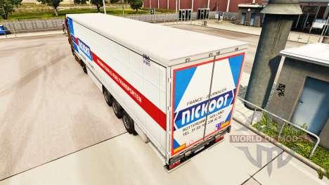 Скин Nickoot на шторный полуприцеп для Euro Truck Simulator 2