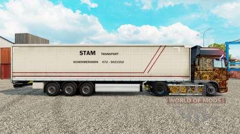 Скин STS шторный полуприцеп для Euro Truck Simulator 2