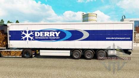 Скин Derry на шторный полуприцеп для Euro Truck Simulator 2