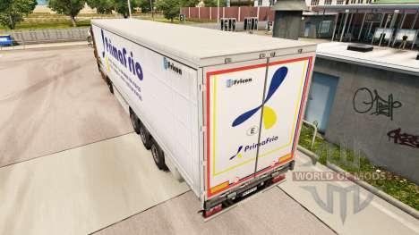Скин Primafrio шторный полуприцеп для Euro Truck Simulator 2