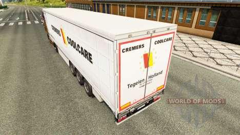 Скин Cremers Coolcare на шторный полуприцеп для Euro Truck Simulator 2