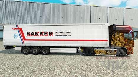 Скин Bakker на шторный полуприцеп для Euro Truck Simulator 2