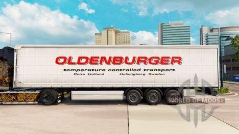 Скин Oldenburger шторный полуприцеп для Euro Truck Simulator 2