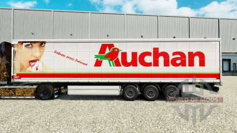 Скин Auchan на шторный полуприцеп для Euro Truck Simulator 2
