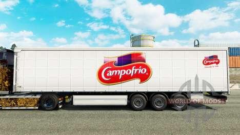 Скин Campofrio на шторный полуприцеп для Euro Truck Simulator 2